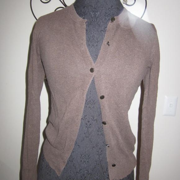 60% off Merona Sweaters - Merona XS Dark Brown Cardigan Sweater ...